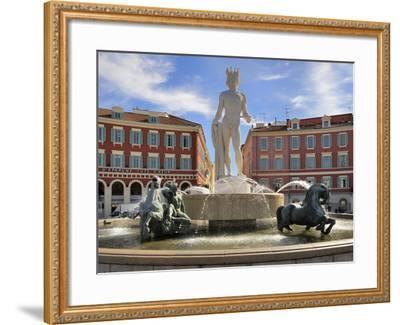 Fontaine Du Soleil (Fountain of the Sun), Place Massena, Nice, Alpes Maritimes, Provence, Cote D'Az-Peter Richardson-Framed Photographic Print