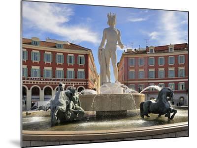 Fontaine Du Soleil (Fountain of the Sun), Place Massena, Nice, Alpes Maritimes, Provence, Cote D'Az-Peter Richardson-Mounted Photographic Print