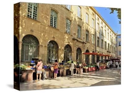 Fruit and Vegetable Market, Aix-En-Provence, Bouches-Du-Rhone, Provence, France, Europe-Peter Richardson-Stretched Canvas Print