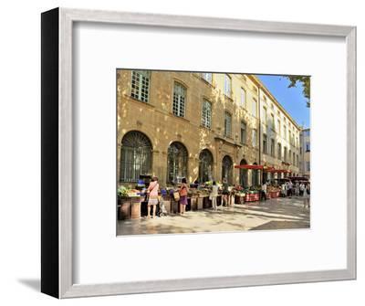 Fruit and Vegetable Market, Aix-En-Provence, Bouches-Du-Rhone, Provence, France, Europe-Peter Richardson-Framed Photographic Print