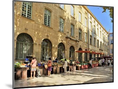Fruit and Vegetable Market, Aix-En-Provence, Bouches-Du-Rhone, Provence, France, Europe-Peter Richardson-Mounted Photographic Print
