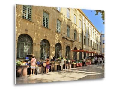 Fruit and Vegetable Market, Aix-En-Provence, Bouches-Du-Rhone, Provence, France, Europe-Peter Richardson-Metal Print
