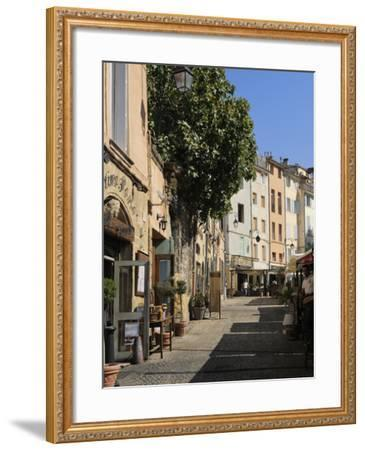 Al Fresco Restaurants, Place Forum Des Cardeurs, Aix-En-Provence, Bouches-Du-Rhone, Provence, Franc-Peter Richardson-Framed Photographic Print