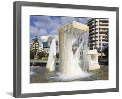 Albatross Fountain by Tanya Ashley in Frank Kitts Park, Wellington, North Island, New Zealand, Paci-Richard Cummins-Framed Photographic Print