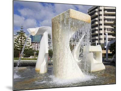 Albatross Fountain by Tanya Ashley in Frank Kitts Park, Wellington, North Island, New Zealand, Paci-Richard Cummins-Mounted Photographic Print