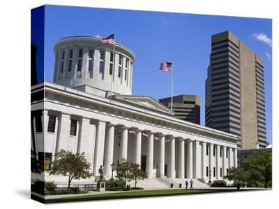 Ohio Statehouse, Columbus, Ohio, United States of America, North America-Richard Cummins-Stretched Canvas Print