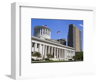 Ohio Statehouse, Columbus, Ohio, United States of America, North America-Richard Cummins-Framed Photographic Print