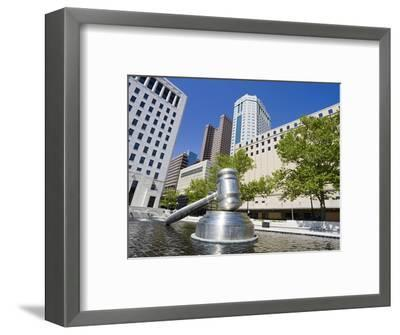 Gavel Sculpture Outside the Ohio Judicial Center, Columbus, Ohio, United States of America, North A-Richard Cummins-Framed Photographic Print