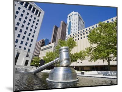 Gavel Sculpture Outside the Ohio Judicial Center, Columbus, Ohio, United States of America, North A-Richard Cummins-Mounted Photographic Print