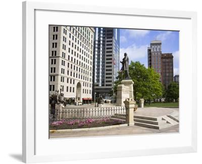 William Mckinley Monument Outside the Ohio Statehouse, Columbus, Ohio, United States of America, No-Richard Cummins-Framed Photographic Print