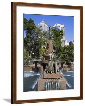 Archibald Fountain in Hyde Park, Central Business District, Sydney, New South Wales, Australia, Pac-Richard Cummins-Framed Photographic Print