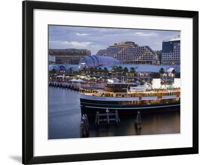South Steyne Ferry and Harbourside in Darling Harbour, Central Business District, Sydney, New South-Richard Cummins-Framed Photographic Print