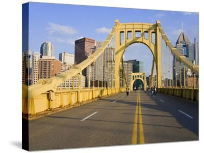 Roberto Clemente Bridge (6th Street Bridge) over the Allegheny River, Pittsburgh, Pennsylvania, Uni-Richard Cummins-Stretched Canvas Print