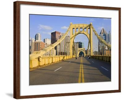 Roberto Clemente Bridge (6th Street Bridge) over the Allegheny River, Pittsburgh, Pennsylvania, Uni-Richard Cummins-Framed Photographic Print