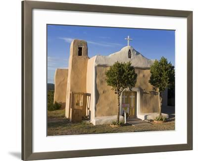 San Francisco De Asis Church Dating from 1835, Golden, New Mexico, United States of America, North -Richard Cummins-Framed Photographic Print