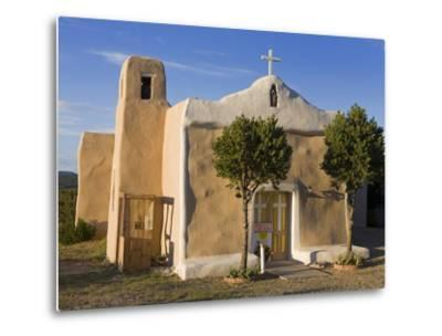 San Francisco De Asis Church Dating from 1835, Golden, New Mexico, United States of America, North -Richard Cummins-Metal Print