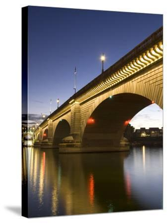 London Bridge in the Late Evening, Havasu, Arizona, United States of America, North America-Richard Maschmeyer-Stretched Canvas Print