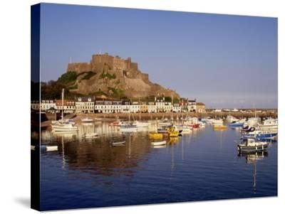 Mont Orgeuil Castle, Gorey, Jersey, Channel Islands, United Kingdom, Europe-Rolf Richardson-Stretched Canvas Print