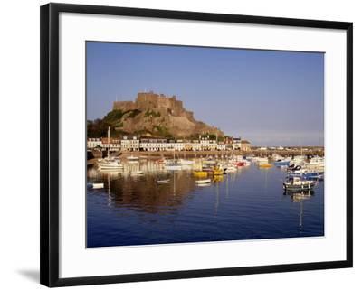 Mont Orgeuil Castle, Gorey, Jersey, Channel Islands, United Kingdom, Europe-Rolf Richardson-Framed Photographic Print