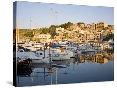 View across the Harbour at Sunrise, Port De Soller, Mallorca, Balearic Islands, Spain, Mediterranea-Ruth Tomlinson-Stretched Canvas Print