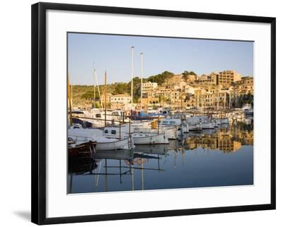 View across the Harbour at Sunrise, Port De Soller, Mallorca, Balearic Islands, Spain, Mediterranea-Ruth Tomlinson-Framed Photographic Print