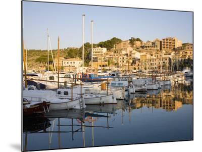 View across the Harbour at Sunrise, Port De Soller, Mallorca, Balearic Islands, Spain, Mediterranea-Ruth Tomlinson-Mounted Photographic Print