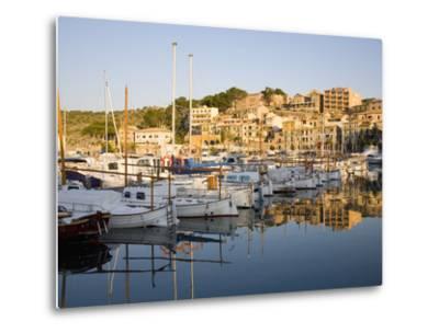 View across the Harbour at Sunrise, Port De Soller, Mallorca, Balearic Islands, Spain, Mediterranea-Ruth Tomlinson-Metal Print