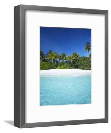 Tropical Beach, Maldives, Indian Ocean, Asia-Sakis Papadopoulos-Framed Photographic Print