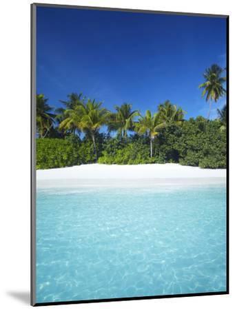 Tropical Beach, Maldives, Indian Ocean, Asia-Sakis Papadopoulos-Mounted Photographic Print