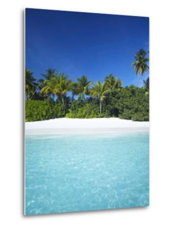 Tropical Beach, Maldives, Indian Ocean, Asia-Sakis Papadopoulos-Metal Print