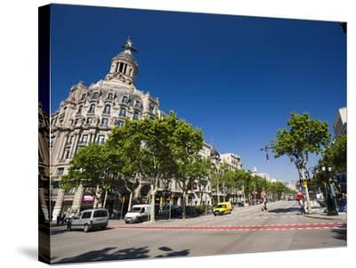 Passeig De Gracia, Barcelona, Catalonia, Spain, Europe-Sergio Pitamitz-Stretched Canvas Print