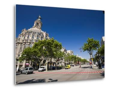 Passeig De Gracia, Barcelona, Catalonia, Spain, Europe-Sergio Pitamitz-Metal Print
