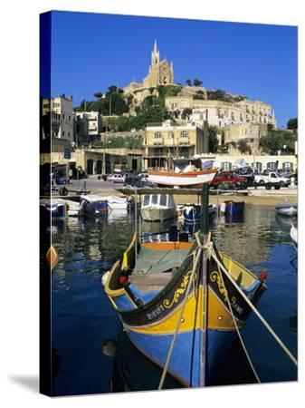 Luzzu Fishing Boat, Mgarr Harbour, Gozo, Malta, Mediterranean, Europe-Stuart Black-Stretched Canvas Print