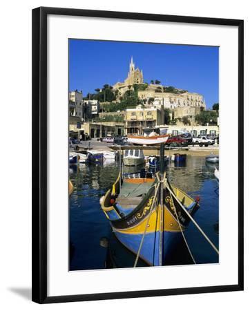 Luzzu Fishing Boat, Mgarr Harbour, Gozo, Malta, Mediterranean, Europe-Stuart Black-Framed Photographic Print