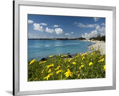 View over Beach in Spring, Fontane Bianche, Near Siracusa, Sicily, Italy, Mediterranean, Europe-Stuart Black-Framed Photographic Print