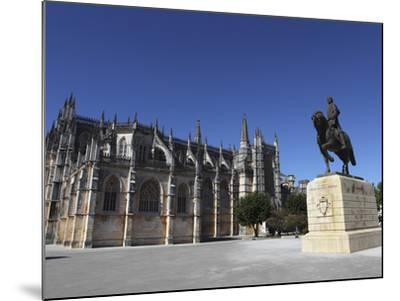 Nuno Alvares Pereira Statue, Battle of Ajubarrota Victor in 1385, at Batalha Abbey, UNESCO World He-Stuart Forster-Mounted Photographic Print