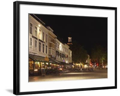 Cafes and Restaurants at the Grote Markt (Big Market) Square at Night, Breda, Noord-Brabant, Nether-Stuart Forster-Framed Photographic Print