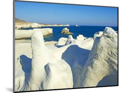 Sarakiniko Lunar Landscape, Sarakiniko Beach, Milos, Cyclades Islands, Greek Islands, Aegean Sea, G-Tuul-Mounted Photographic Print
