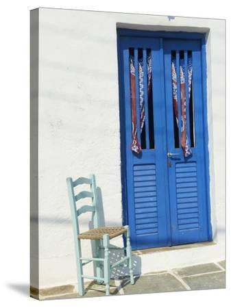 Blue Door in the Old Village of Kastro, Sifnos, Cyclades Islands, Greek Islands, Greece, Europe-Tuul-Stretched Canvas Print