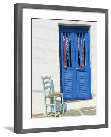 Blue Door in the Old Village of Kastro, Sifnos, Cyclades Islands, Greek Islands, Greece, Europe-Tuul-Framed Photographic Print