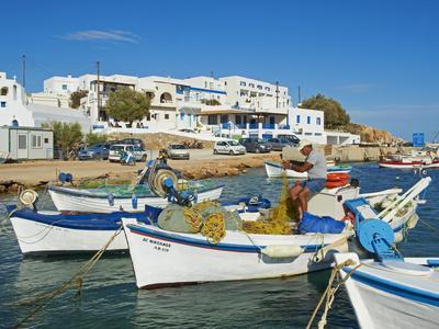 Karavostasis Village and Principal Port, Folegandros, Cyclades Islands, Greek Islands, Aegean Sea, -Tuul-Premium Photographic Print