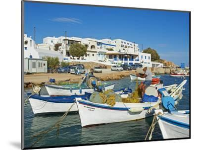 Karavostasis Village and Principal Port, Folegandros, Cyclades Islands, Greek Islands, Aegean Sea, -Tuul-Mounted Photographic Print