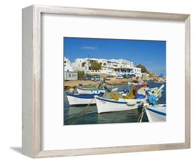 Karavostasis Village and Principal Port, Folegandros, Cyclades Islands, Greek Islands, Aegean Sea, -Tuul-Framed Photographic Print