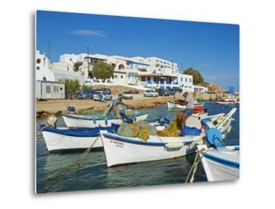 Karavostasis Village and Principal Port, Folegandros, Cyclades Islands, Greek Islands, Aegean Sea, -Tuul-Metal Print
