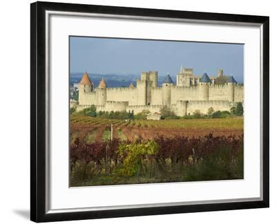 Medieval City of Carcassonne, UNESCO World Heritage Site, Aude, Languedoc-Roussillon, France, Europ-Tuul-Framed Photographic Print