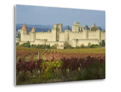 Medieval City of Carcassonne, UNESCO World Heritage Site, Aude, Languedoc-Roussillon, France, Europ-Tuul-Metal Print