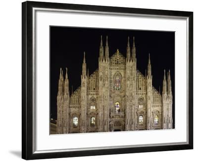 Duomo at Night, Milan, Lombardy, Italy, Europe-Vincenzo Lombardo-Framed Photographic Print