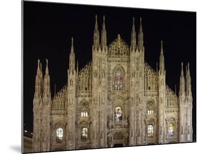 Duomo at Night, Milan, Lombardy, Italy, Europe-Vincenzo Lombardo-Mounted Photographic Print
