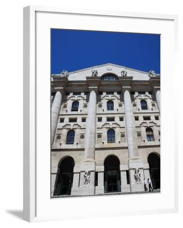 Stock Exchange Building, Milan, Lombardy, Italy, Europe-Vincenzo Lombardo-Framed Photographic Print