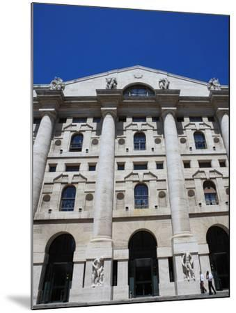 Stock Exchange Building, Milan, Lombardy, Italy, Europe-Vincenzo Lombardo-Mounted Photographic Print